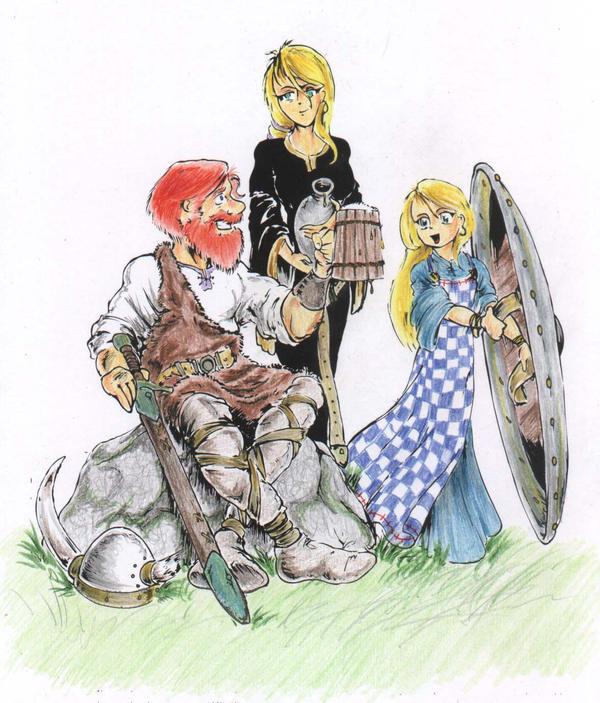 Viking family by bluessaurus on DeviantArt