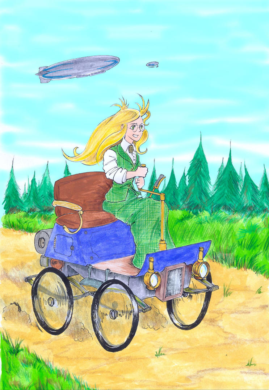Girl Genius 3rd sketch - Color by bluessaurus