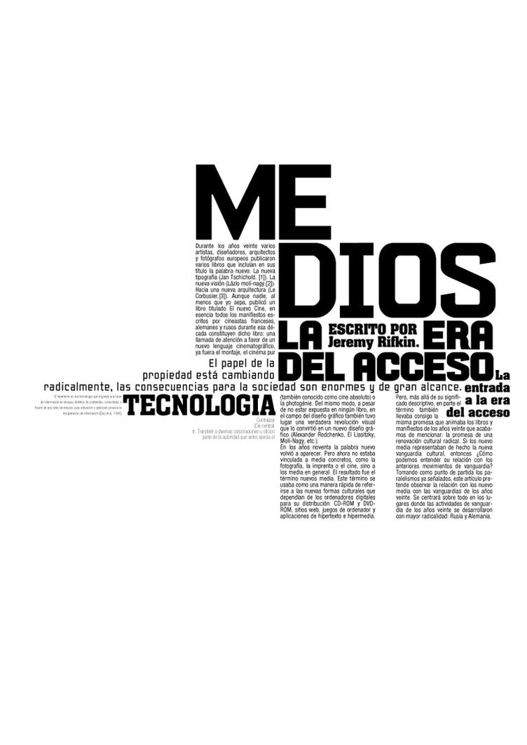 Medios - Puesta tipografica by Naggy