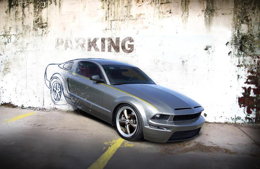 Mustang 'wallpaper' by nutboltu