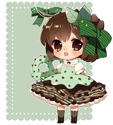 Pretzel Crisp: Mint Chocolate Chip gijinka*