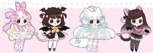 [ 1 left ] Sketch cuties* [Adopts] by Hinausa