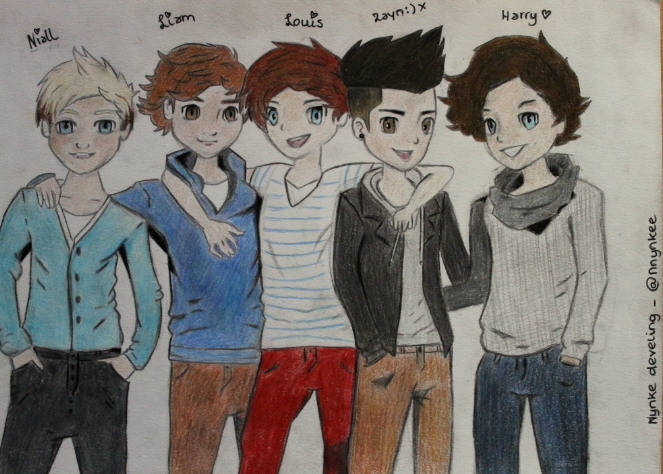 One direction cartoon tumblr 2013