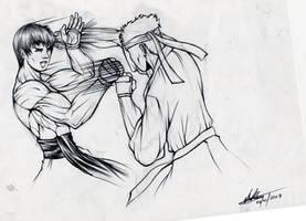 Kyokushin Vs Wing Chun by ZWR