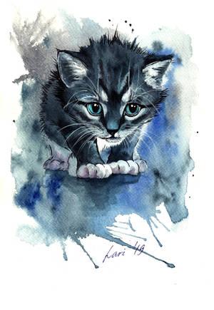 Blue Cat by lariel-istime