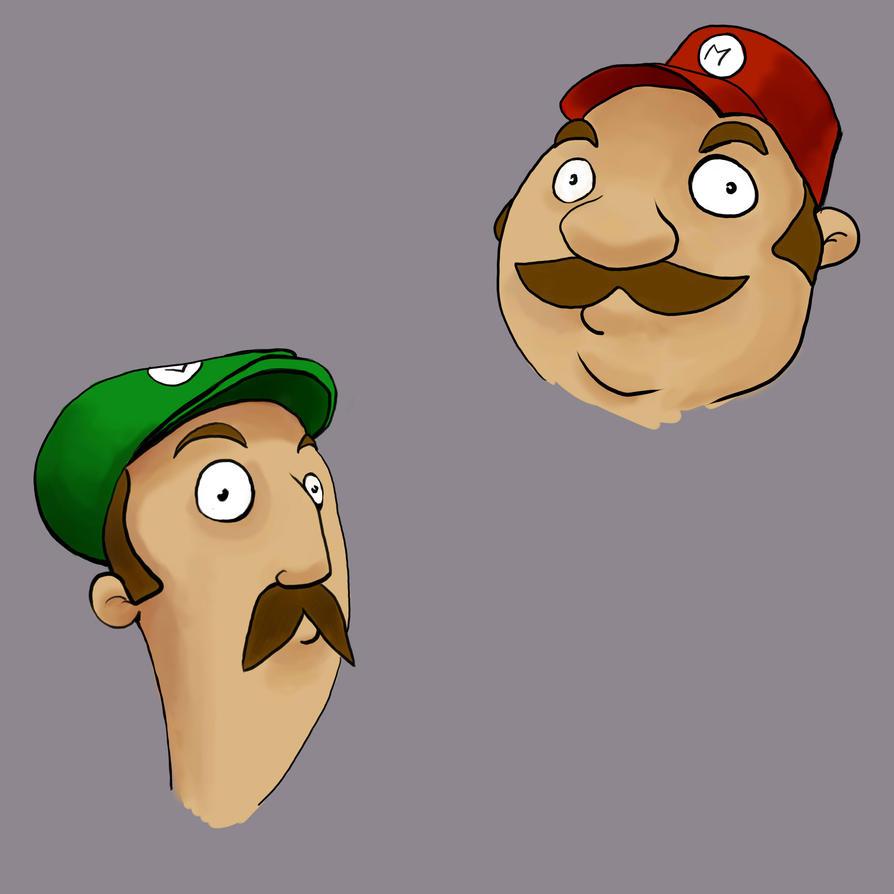 Mario Twins by BlueWolfD
