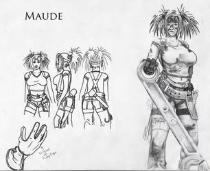 Maude's modelsheet by Eggpoacher