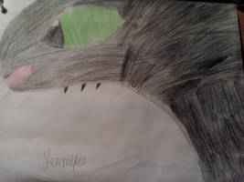 First ever sketch of Toothless