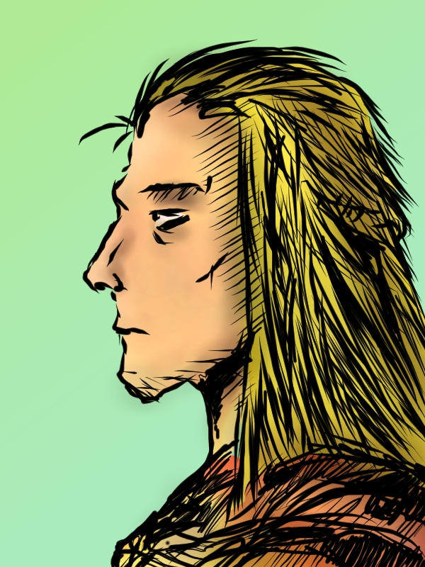 Warrior With Blonde Hair Comic Style By EyesKingdom