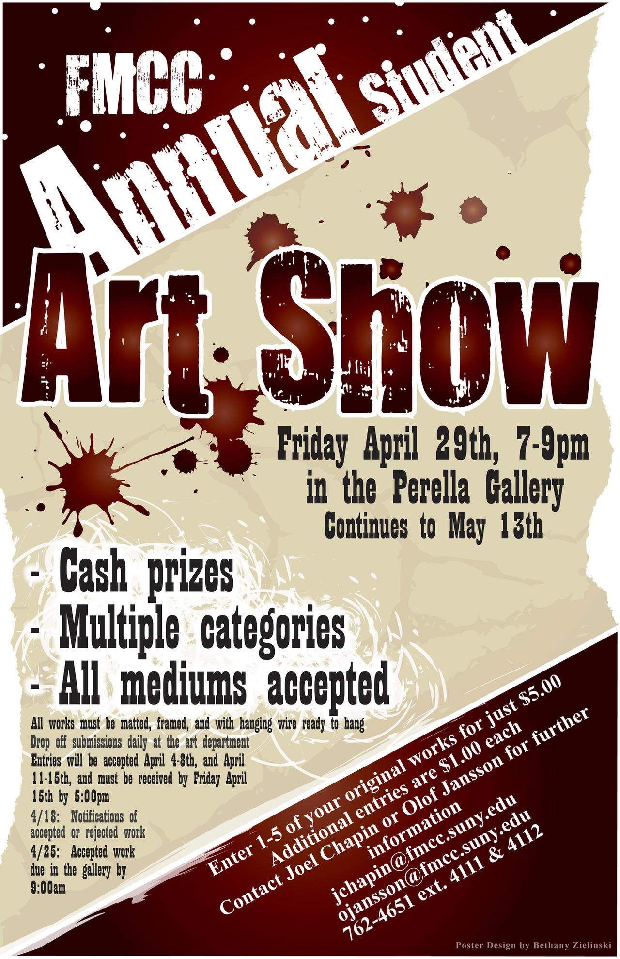 Poster design gallery -  Fmcc Art Show Poster Design By Blacke Horse Design
