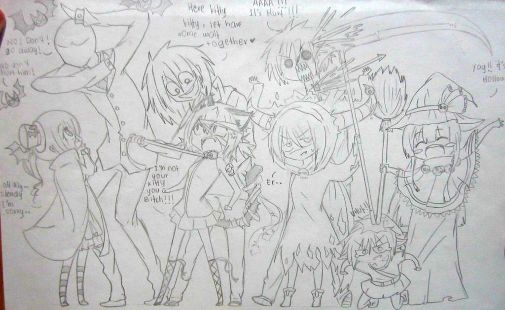 CreepyPasta Halloween Sketch by IkaNe96