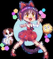 FA: Neko-Nyaa! Neko Musume ( Gegege No Kitaro ) by IkaNe96