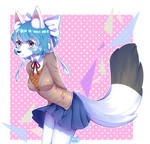 COMM: School Girl Uniform [Speedpaint]
