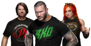AJ Styles, Randy Orton and Becky Lynch