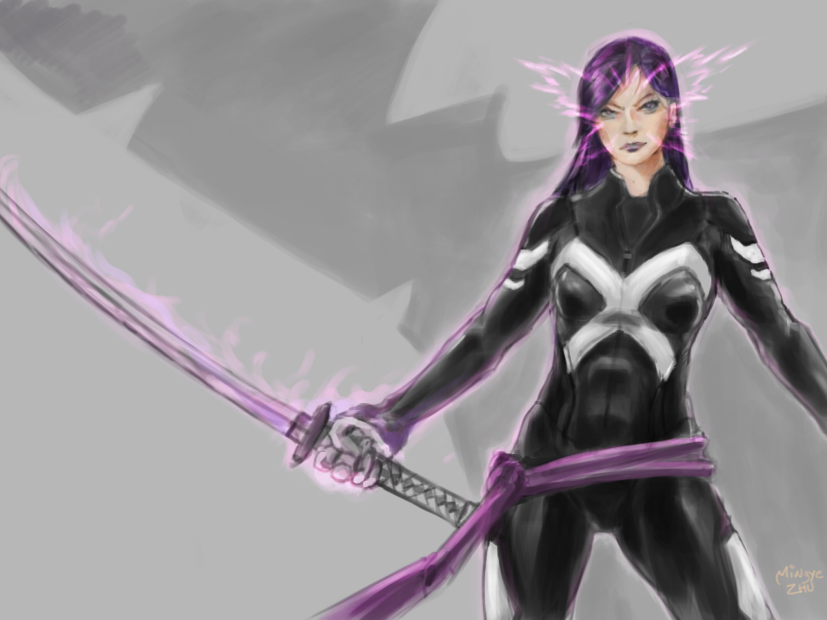Marvel Psylocke Art fenrysk-art Psylocke 2013