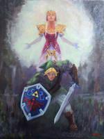 Legend of Zelda - oil on board 18x14 by fenrysk-art