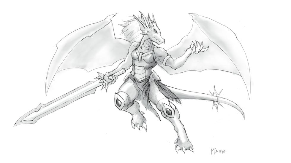 Female Dragonkin 2014 by fenrysk-art