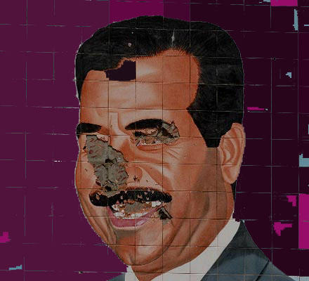 Saddam Broken Face by zoneone