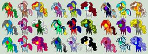 5 Point Pony Adopts (CLOSED) by xXSoft-SilenceXx