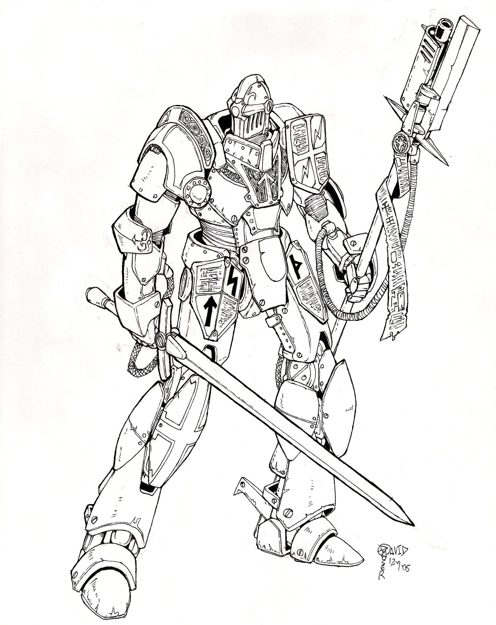 Holy Templar Engine: Inks by blackswordsman28