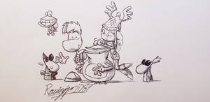 Rayman Legends sketch (redrawn) by Ravingjur1087