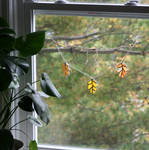 Glass Leaves on a String