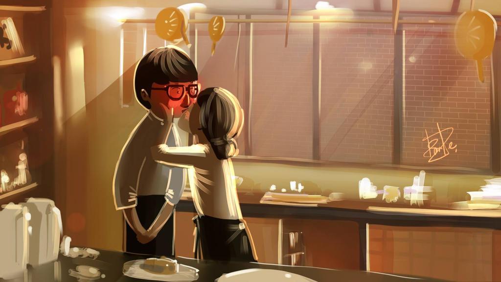 Dating agency cyrano kiss scene