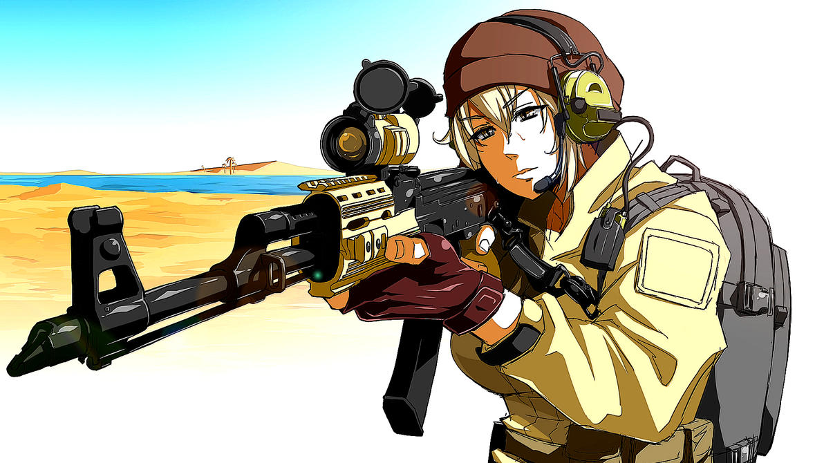 26292 anime girls anime girls with guns editednayster24 on