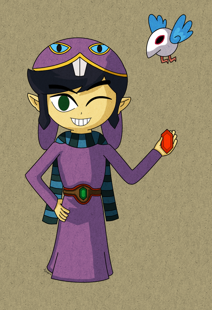 A Link Between Worlds: Ravio (Wind Waker Style) by Azbayzia