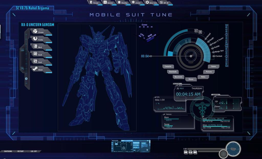 Hd Gundam Themes: Gundam UC Theme Desktop By Flame-Kishi On DeviantArt