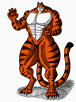 Tiger Character Design (Old Art) by MuscleRabbit9090