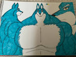 Heroes Comic Project Lucas Werewolf Traditional 2 by MuscleRabbit9090
