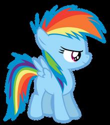 Rainbow Dash Filly by Serenawyr
