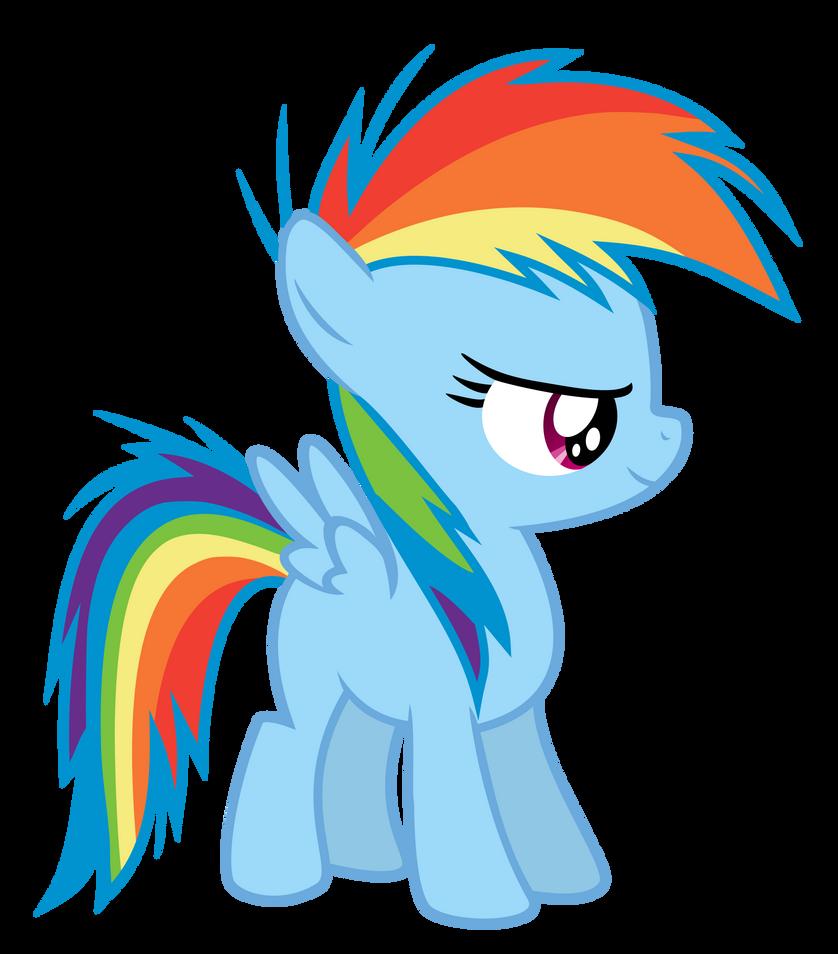 Rainbow Dash Filly by Serenawyr on DeviantArt