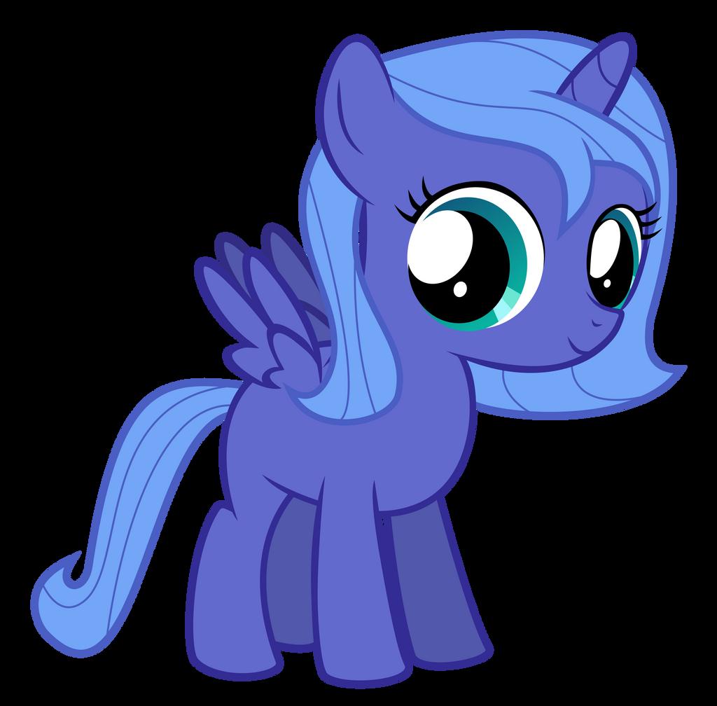 Filly Luna by Serenawyr on DeviantArt