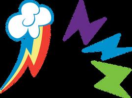 Rainbow Power Cutie Mark: Rainbow Dash by Serenawyr