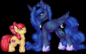 Luna and Apple Bloom (speedpaint)