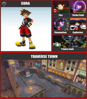 SSBR Moveset - Sora by TheDnDking