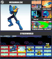 SSBR Moveset - MegaMan.EXE by TheDnDking