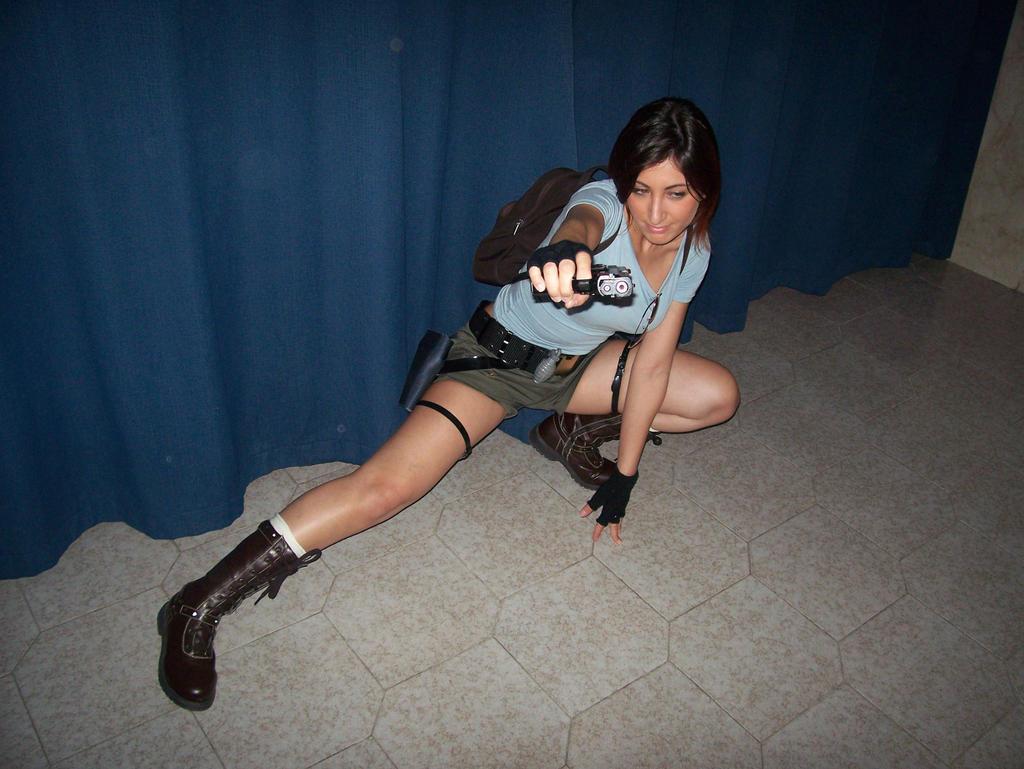 Me as Lara Croft by AuraRinoa