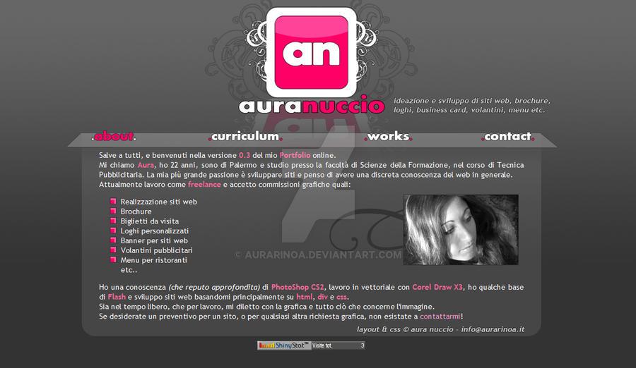 New Portfolio Layout by AuraRinoa