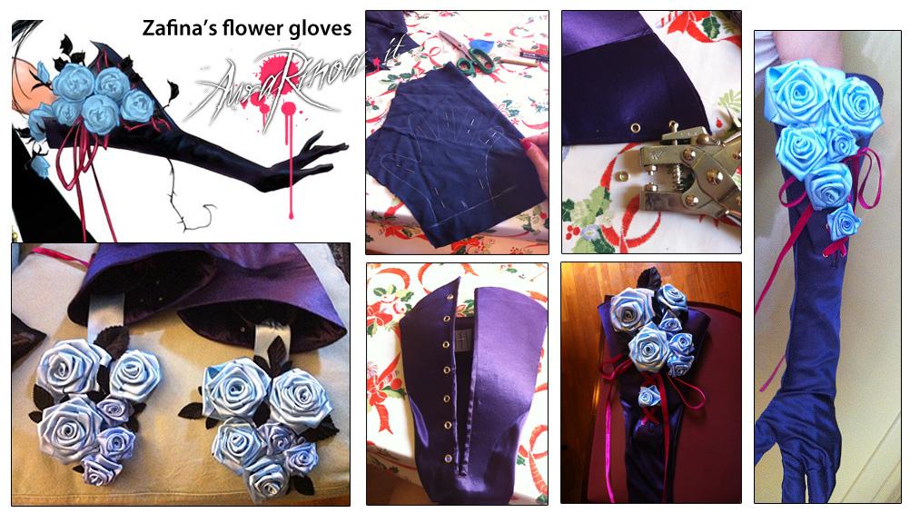 Zafina Gloves Collage by AuraRinoa