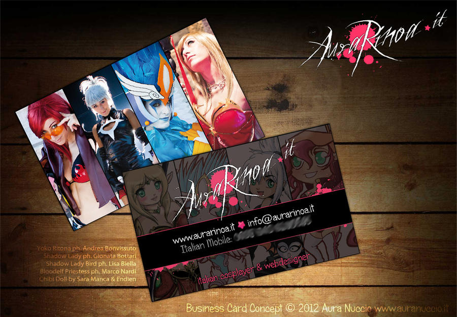 Cosplay Business Card By Aurarinoa On Deviantart