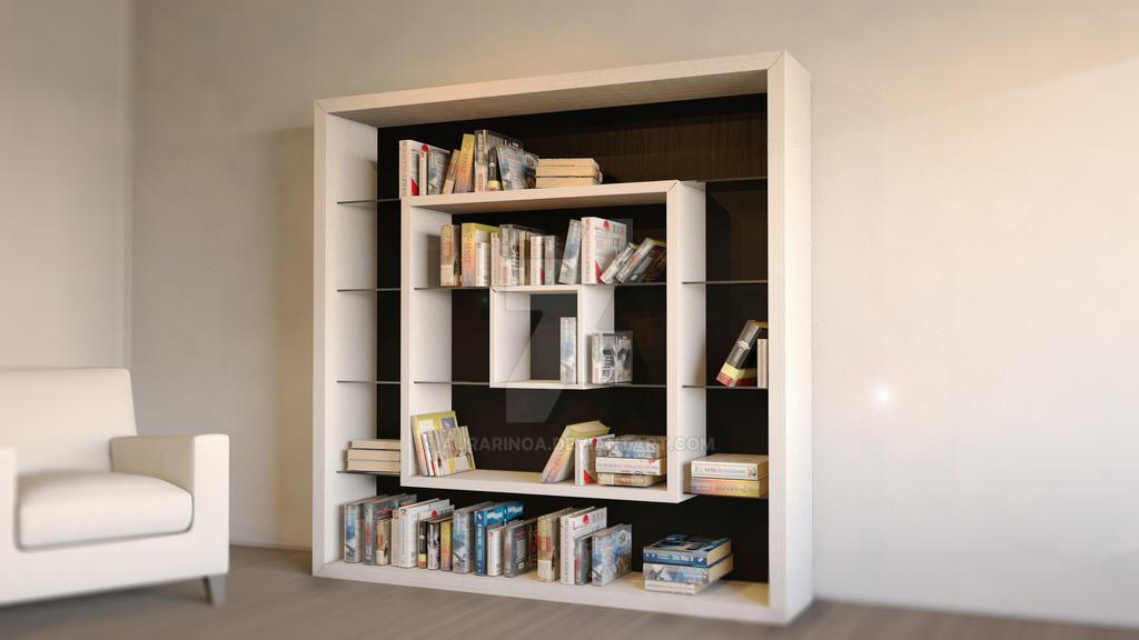3D Library, Interior Design by Lelio Nuccio by AuraRinoa