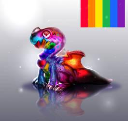 [Pride dragon] by Scyrina