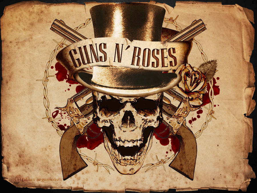 Guns n 39 roses old paper by fabianau on deviantart - Wallpaper guns and roses ...