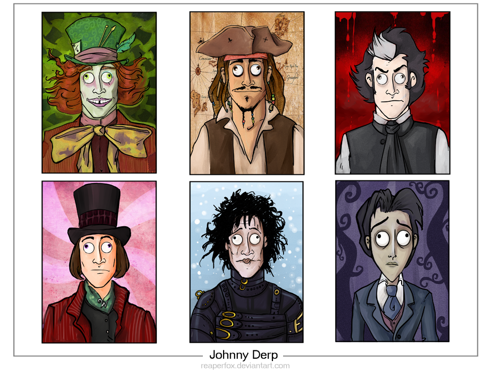The Many Faces of Johnny Derp by reaperfox
