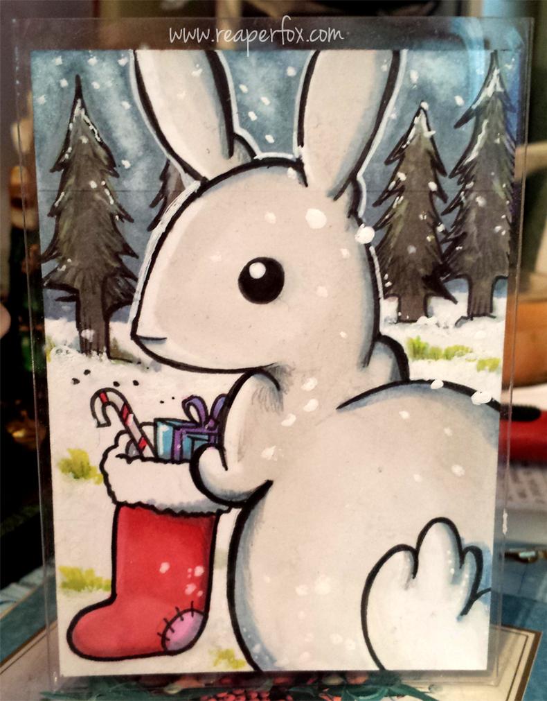 Sketch Card - Snow Bunny! by reaperfox