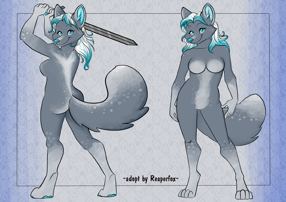 [ADOPT] Sword Wielding Snow Vixen! by reaperfox