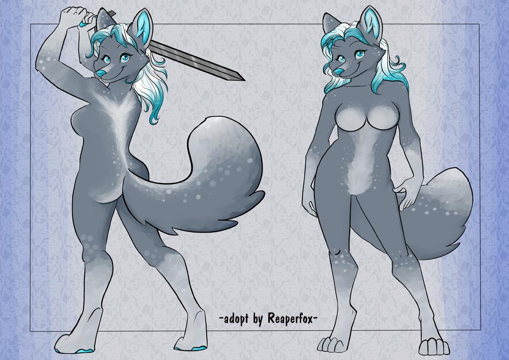 [ADOPT] Sword Wielding Snow Vixen! by reaperfox
